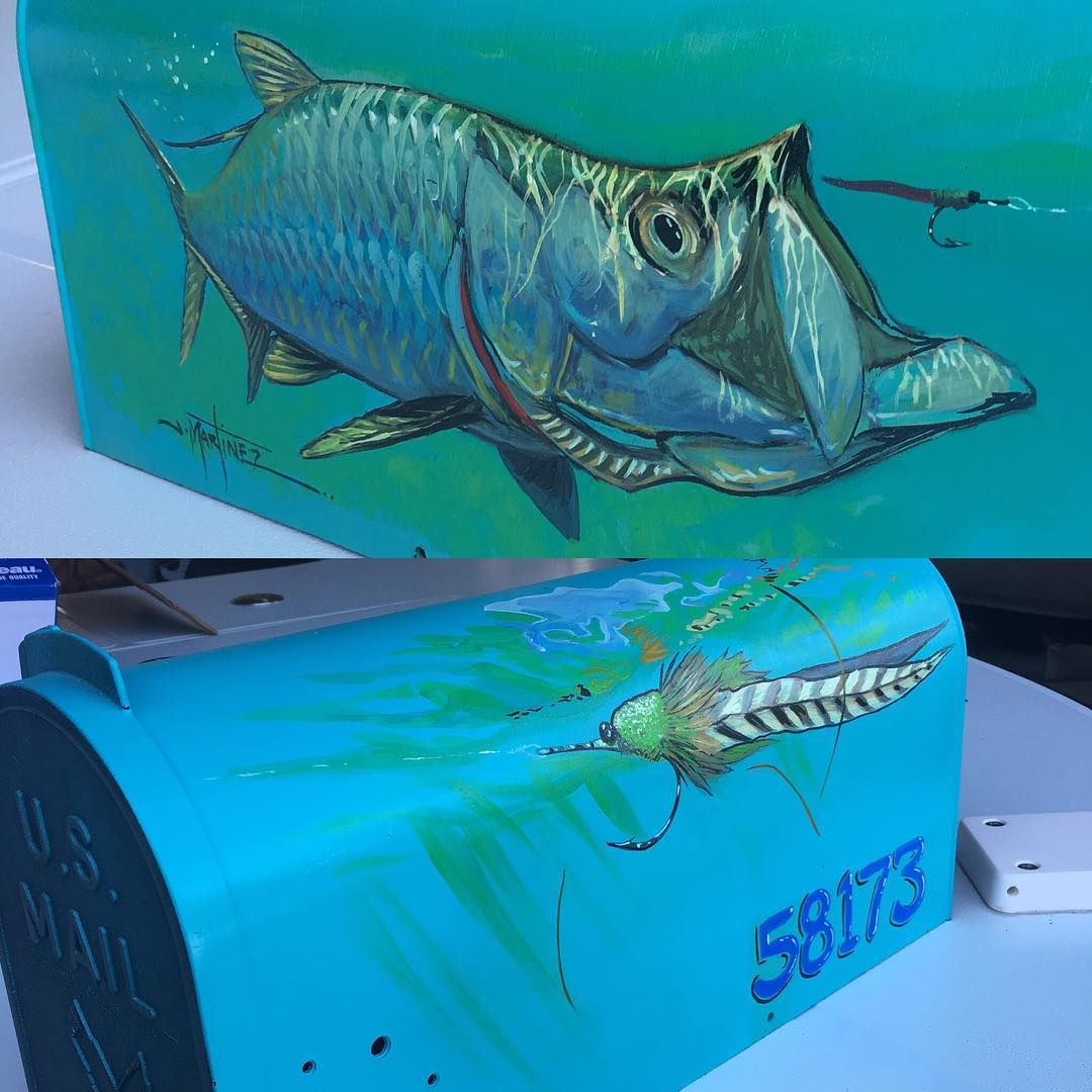 Thanks to @jmartinez_art for making me the coolest mailbox of all time. Looks incredible, my man!  #fishart #rustyflycharters #noworneverglades #captainsforcleanwater